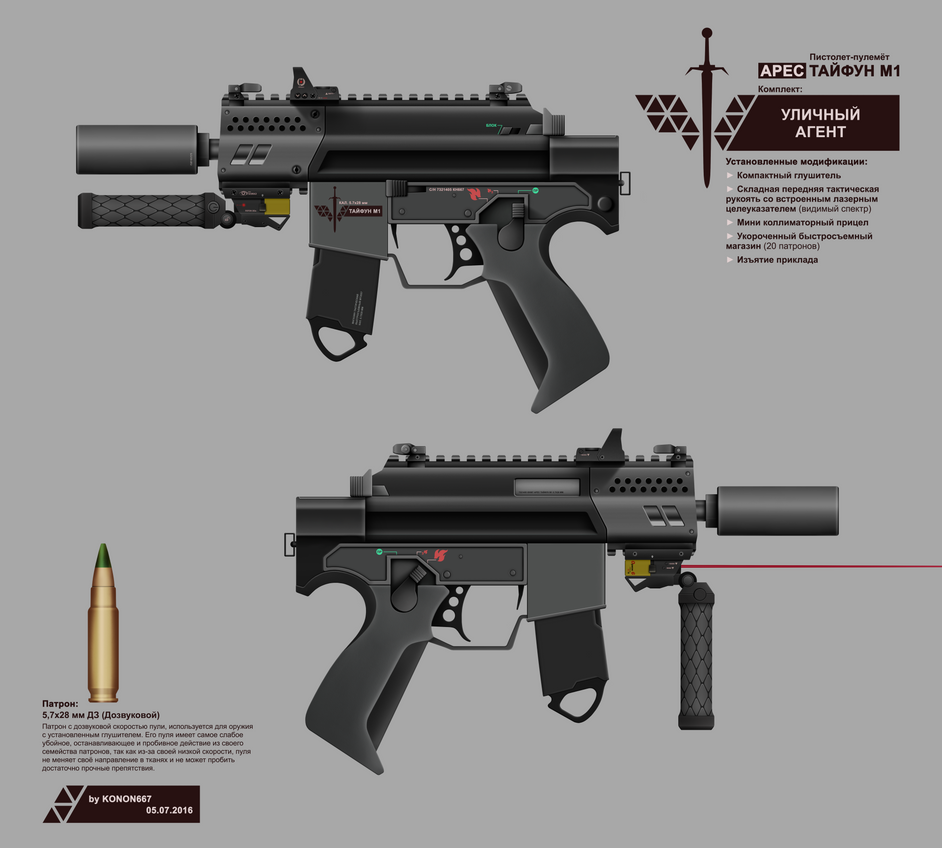 ARES SMG TYPHOON M1 (STREET AGENT KIT) by konon667