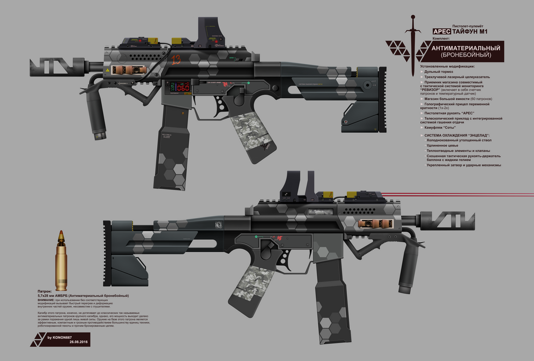 ARES SMG TYPHOON M1 (ANTIMATERIAL AP KIT) by konon667