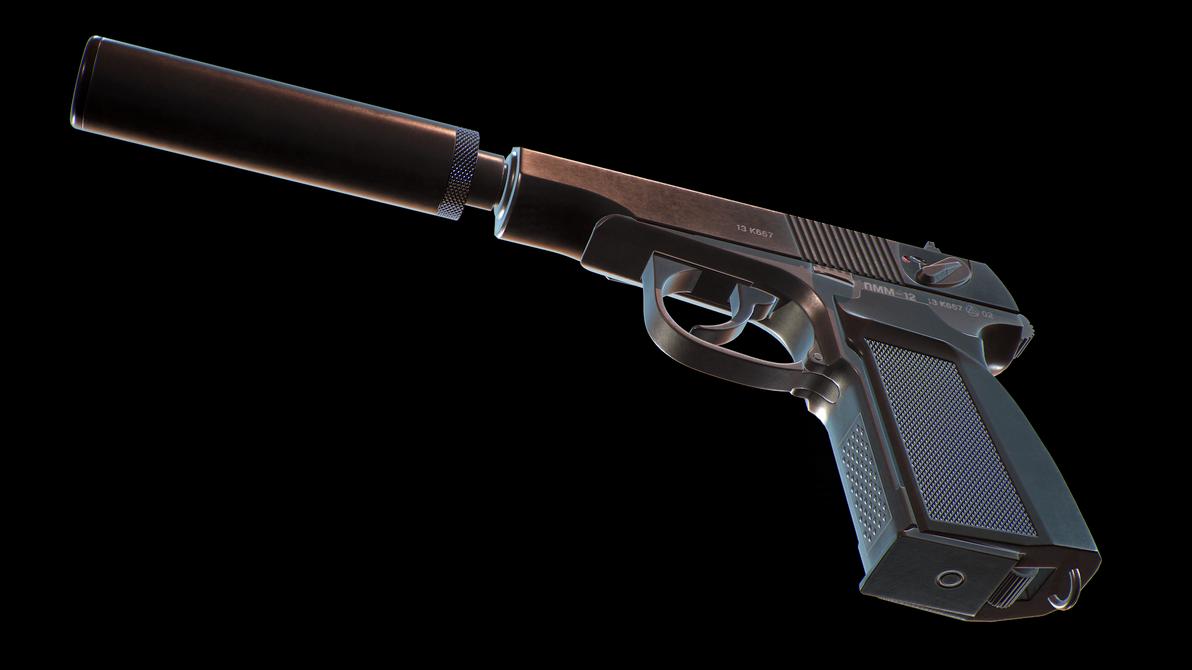 Silenced PMM-12 (Makarov Pistol Modernized-12) by konon667