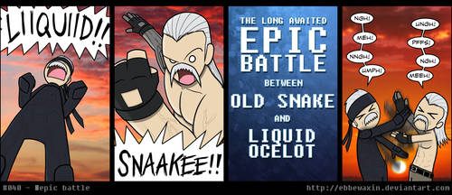 Epic Battle by ebbewaxin