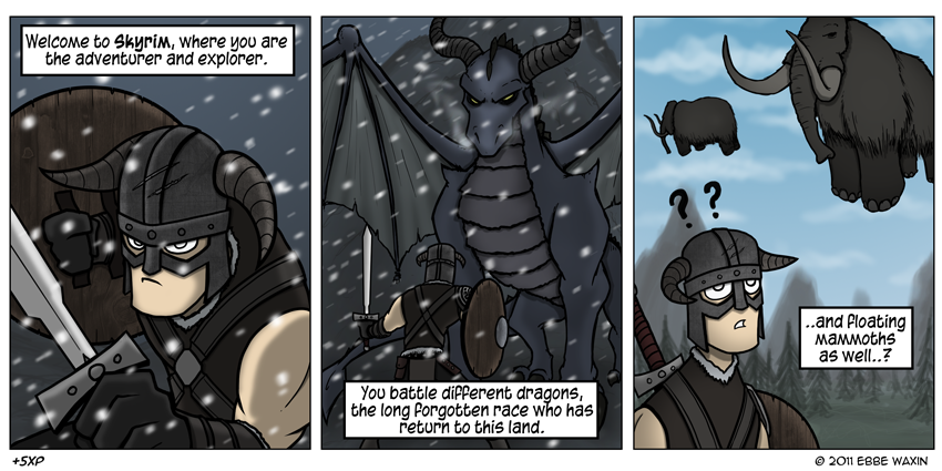 +5XP - Skyrim Mammoths by ebbewaxin