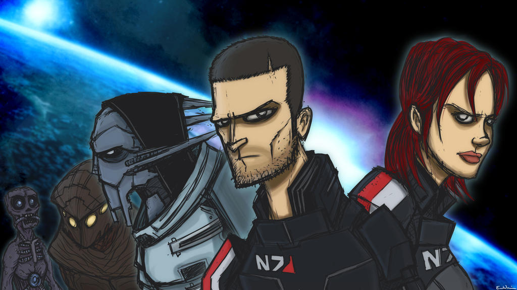 021 - Mass Effect by ebbewaxin