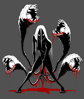 Tentacle Horror Lady T-Shirt Design / Artwork