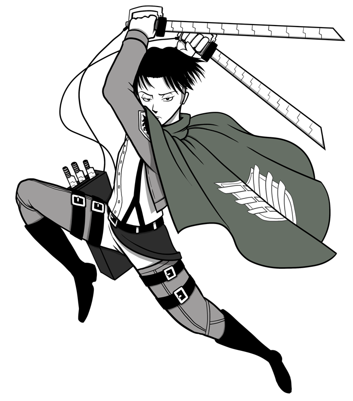 Attack on Titan Levi by ebbewaxin