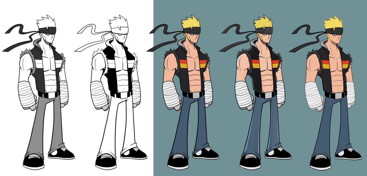 Character Coloring Test and Redesigned by ebbewaxin
