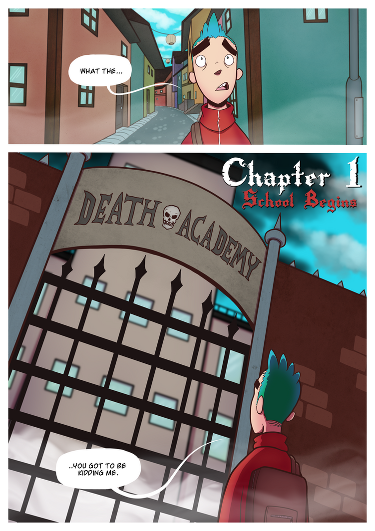 Death Academy Ch.1 P.1 by ebbewaxin