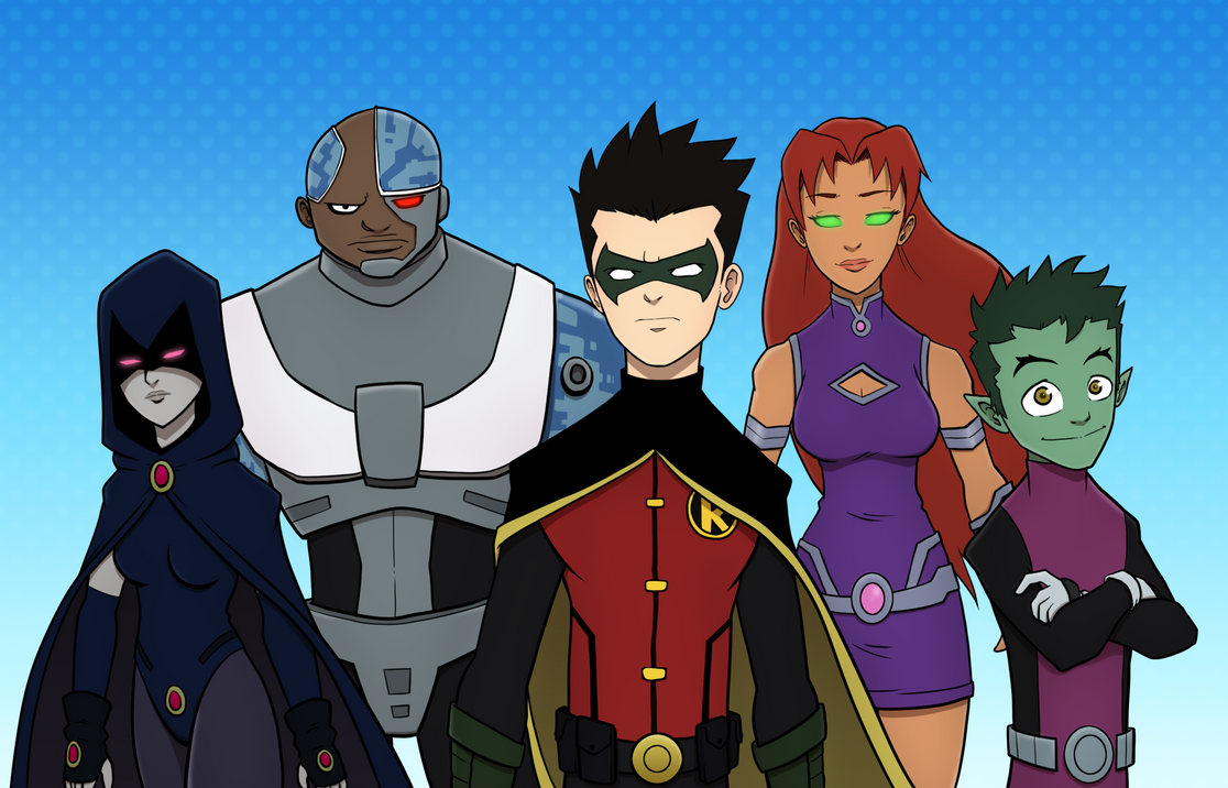Teen Titans FanArt by ebbewaxin