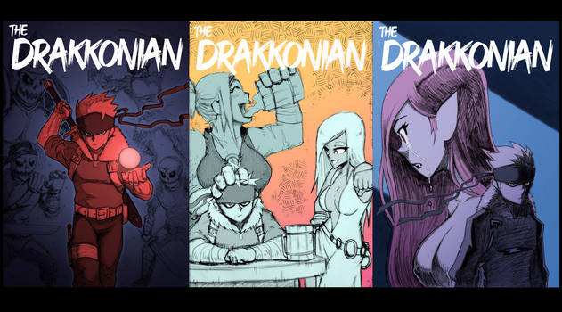'The Drakkonian' 3 Colored Sketch Covers