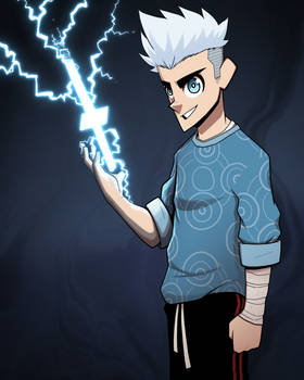 Modern Thunder Mage Character Concept