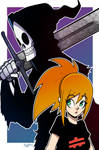 My girl character with Grim Reaper