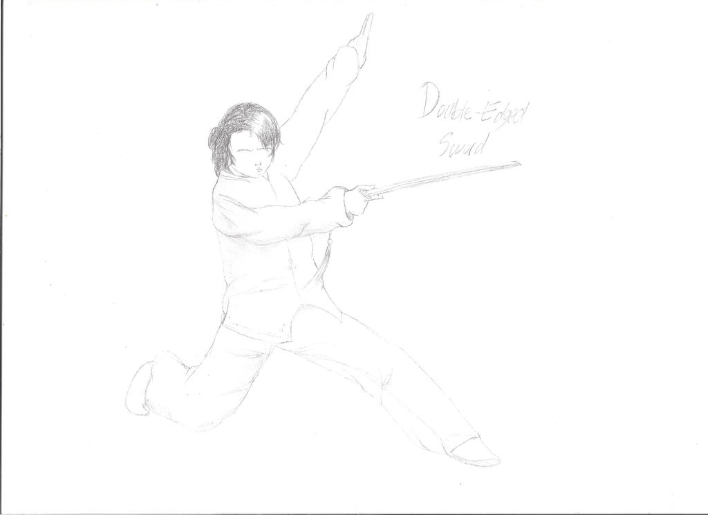 Double Edged Sword Wushu Martial Art Stance By Wushukhanku96 On Deviantart