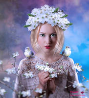 Flower And Birds by tinca2