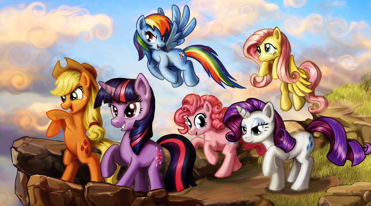 Onward Ponies by harwicks-art