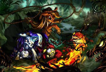 Fires of Friendship by harwicks-art