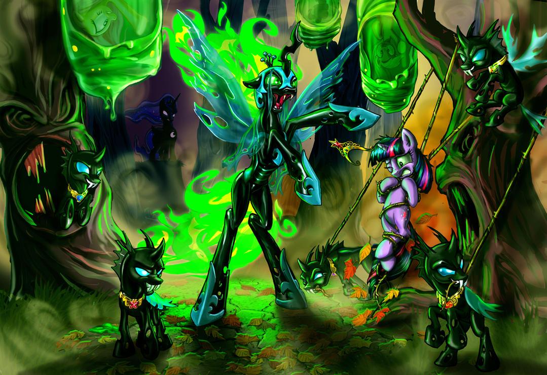 Nightmare Chrysalis by harwicks-art