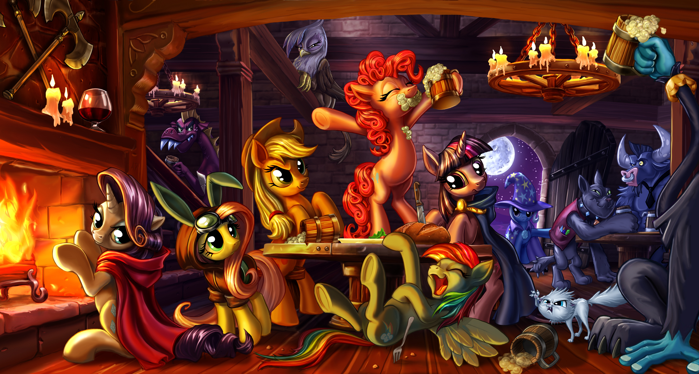 The Wrong Crowd for a Celebration by harwicks-art