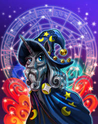 Magic Horse with Beard and Hat by harwicks-art