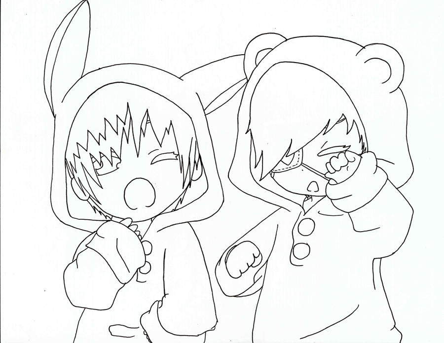anime couple sleeping coloring coloring pages