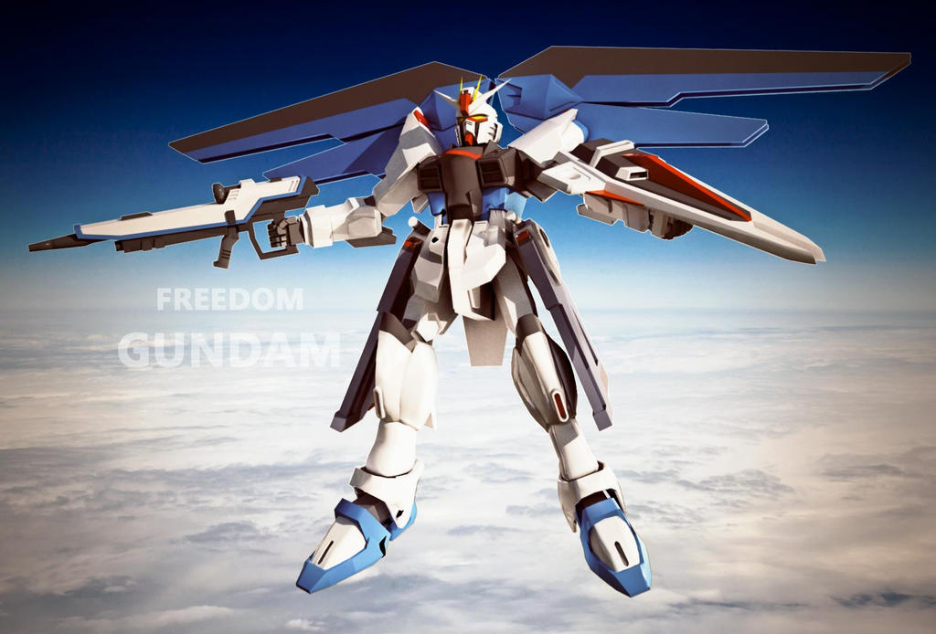 Freedom Gundam render 02 by StraightFlashes