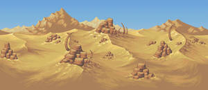 Planet Centauri -  Desert background