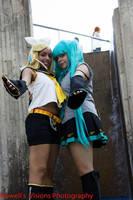 Miku and Rin 2 by Angelstarr-Sakura