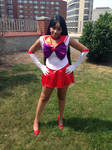 Sailor Mars Protecting the City
