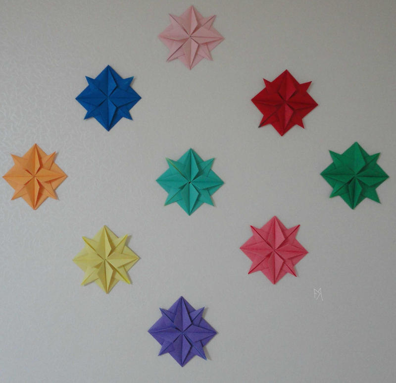 origami wall art by akaitennyo on deviantart