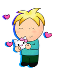 butters and hello kitty