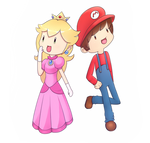 kiriban: peach and mario cosplay