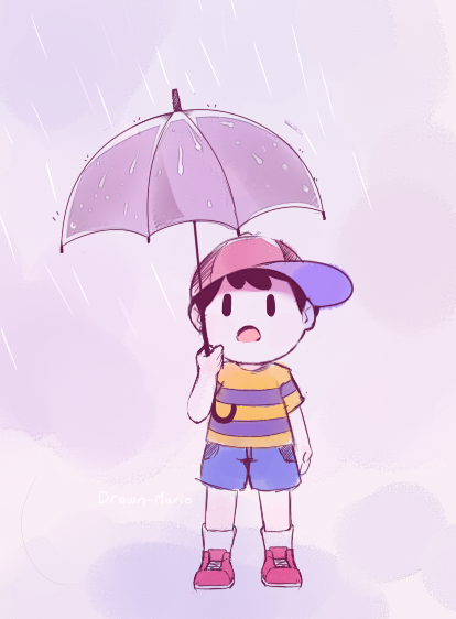 Rainy day by Drawn-Mario