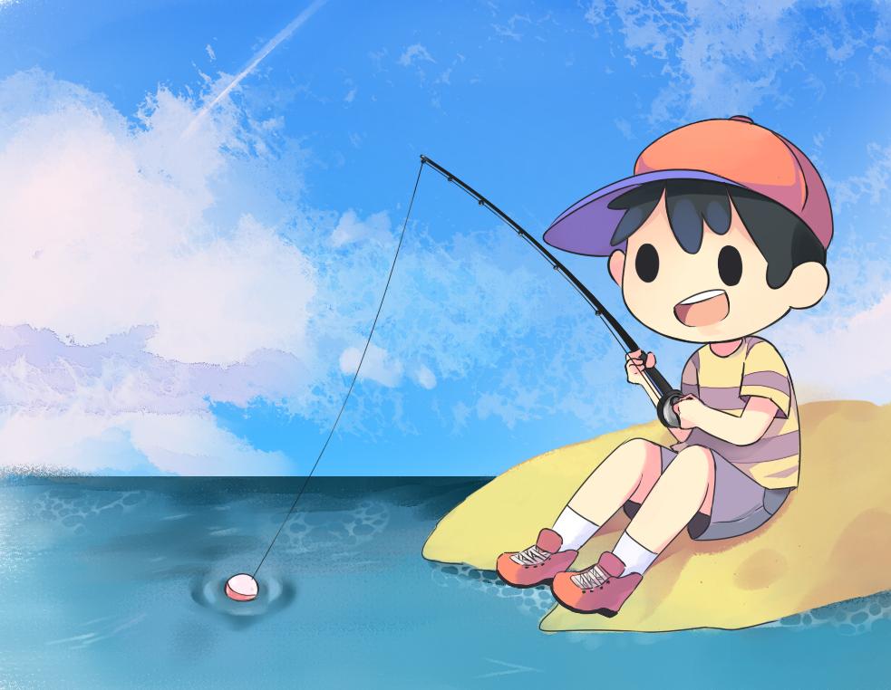 Fishing by Drawn-Mario