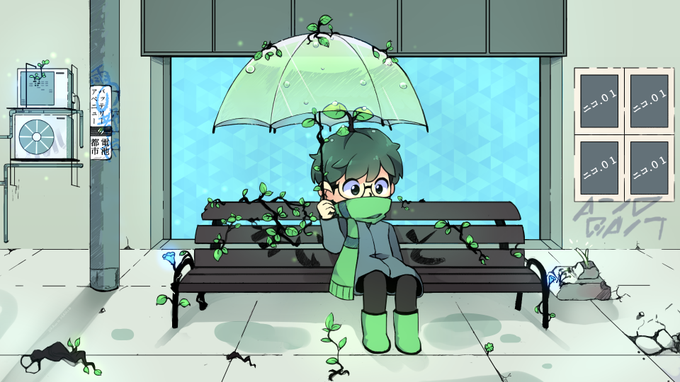 Under My Umbrella by Drawn-Mario