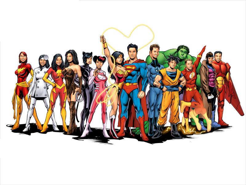 Superhero Wedding by DaneRot