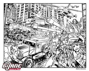 G. I. Jane WOMEN OF WAR Lineart