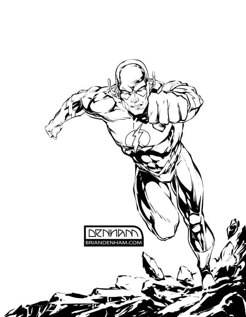 dc flash coloring pages - photo#30