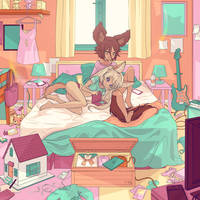 Foxes Bedroom by simoneferriero