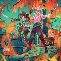 Pirates and Krakens by simoneferriero