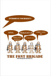 Font Brigade by BLUEgarden