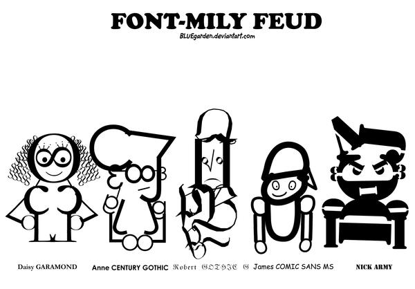 FONT-MILY FEUD by BLUEgarden