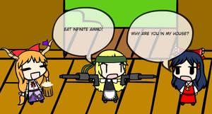 Marisa has infinite ammo