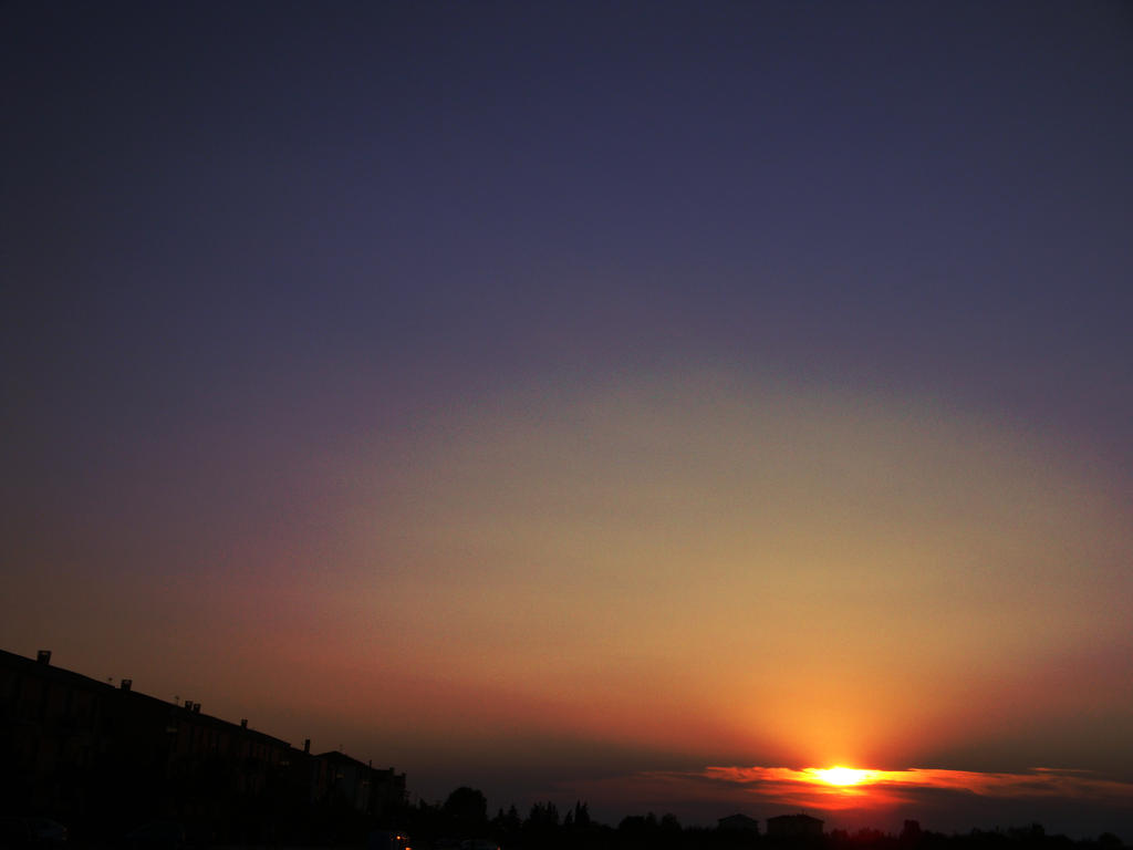 An old summer sunset (Two)