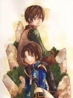 wind and earth... the twin by midoriYuki