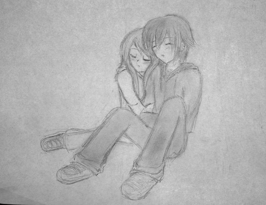 """Snuggling Couple"" Rough by ~DeadnLively on deviantART"