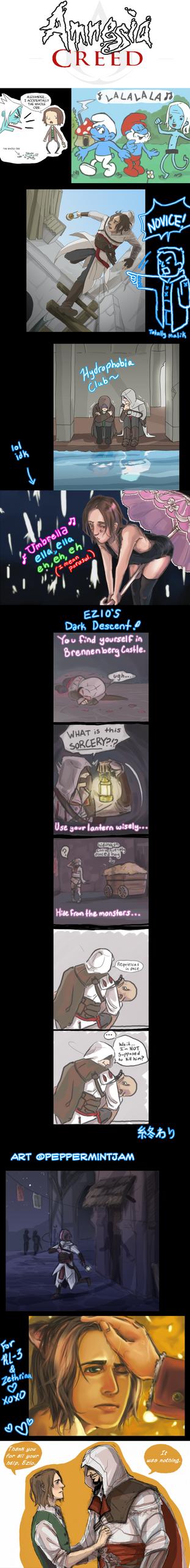 Amnesia Creed Sketch Dump by peppermintjam
