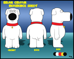 Brian Griffin reference sheet by ShadowNinja976