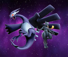 Shadow Lugia and Mew-Two: