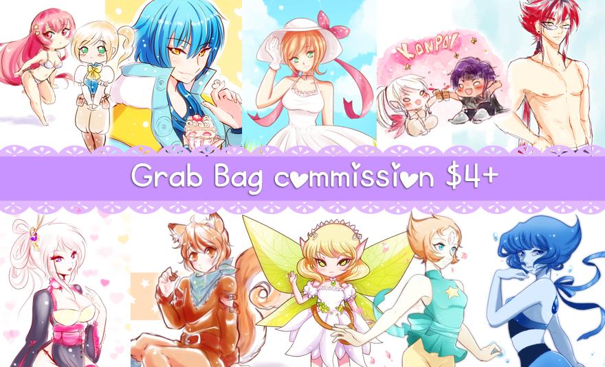 Grab Bag Commissions Open by himawari-tan