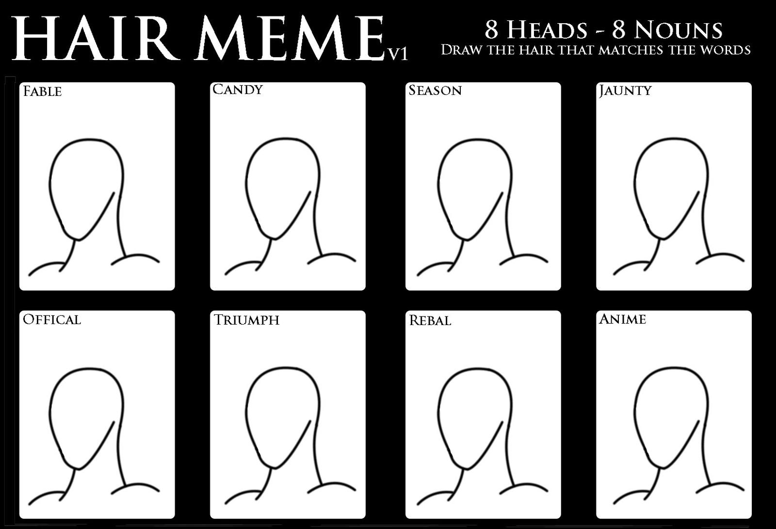 Character Design Meme : Hair design meme version by salmiraeon on deviantart
