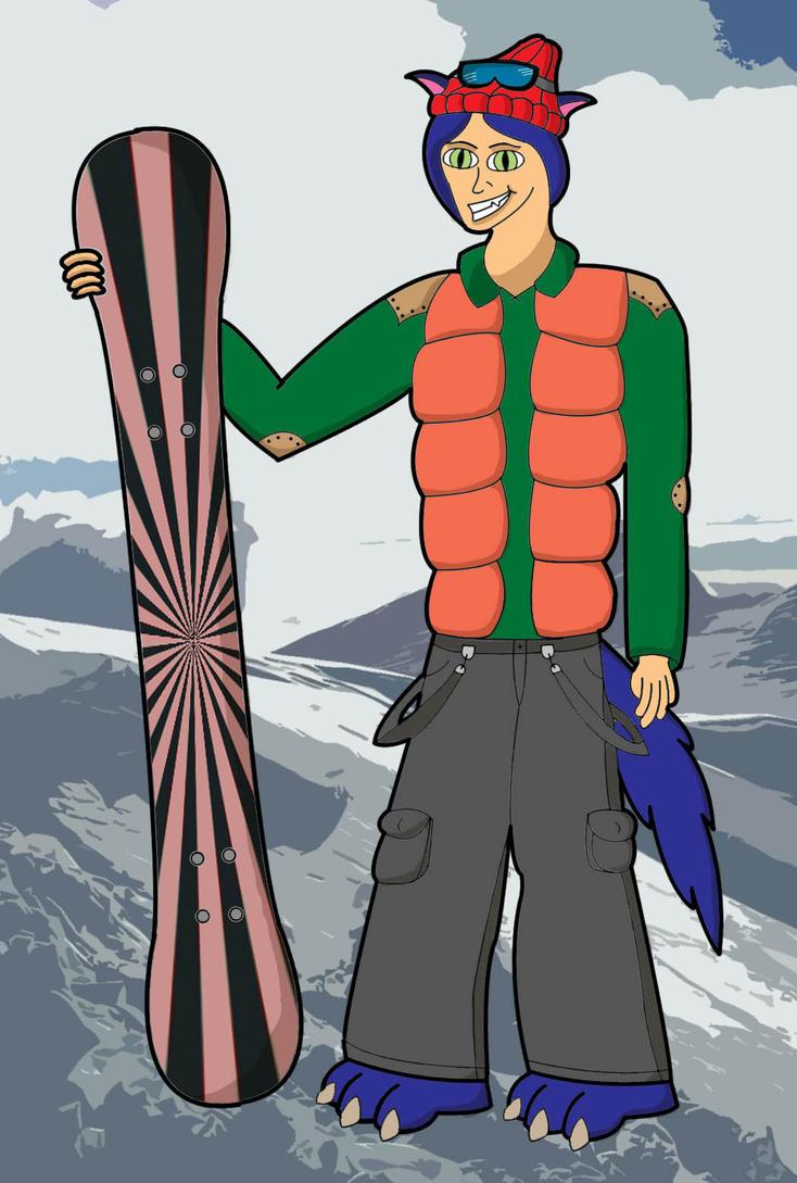 Salmir the Snowboarder by SalmirAeon