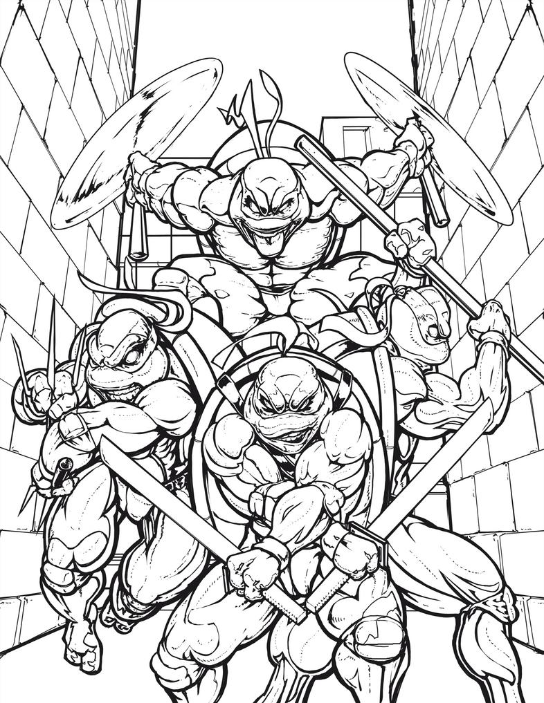Teenage mutant ninja turtles ink 1 by curtis hunt